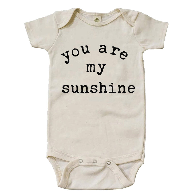 """You Are My Sunshine"" Short Sleeve Organic Bodysuit"