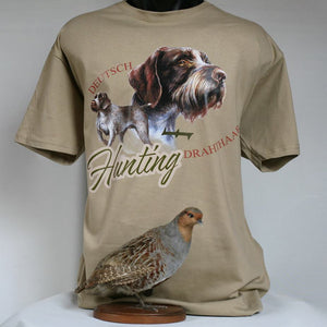 SiurhaArt T-Shirt Deutch Hunting drahtthaar