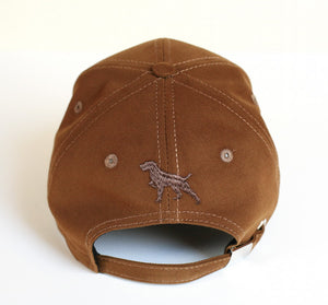 "Hunting hat ""German wirehaired pointer (Deutsch drahthaar)"" brown"