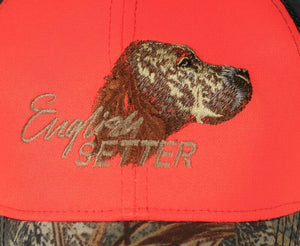"Hunting hat ""English Setter"" orange"