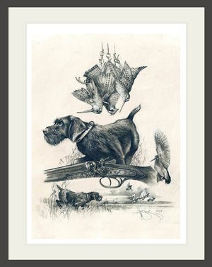 "Author's print ""Field hunting"""
