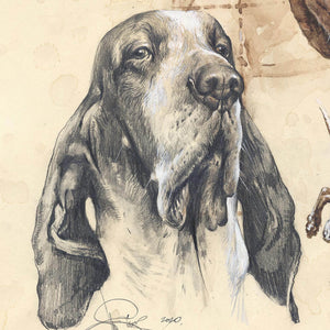 "Author's print ""Bracco Italiano"""