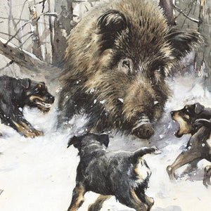 "Author's print ""Hunting with Jagdterriers"""