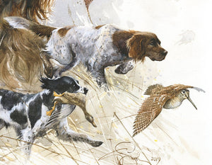 "Author's print ""Munsterlanders. My hunting friends"""