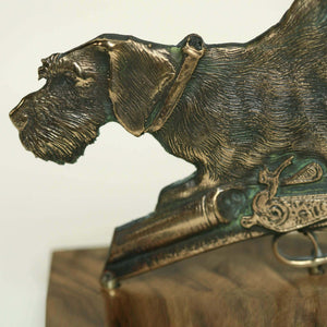 "Bronze sculpture ""Deutsch Drahthaar German Wirehaired"""