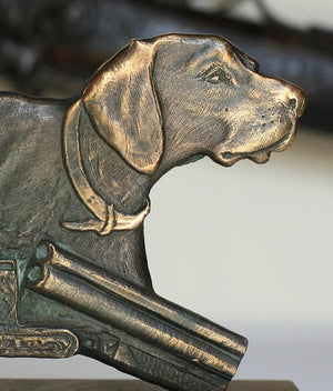 "Bronze sculpture ""German Shorthaired Pointer"""