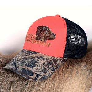 "Hunter's cap ""Deutsch jagdterrier"" orange"