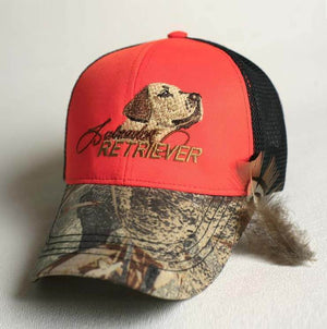 "Hunters hat ""Labrador Retriever "" orange-grey-camo"