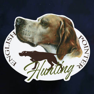 "Hunting dog decal ""English pointer"""
