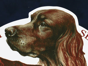 "Hunting dog decal ""Irish setter"""