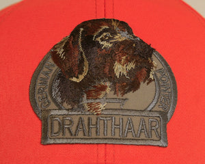 "Hunter's cap ""Deutsch drahthaar"" orange"