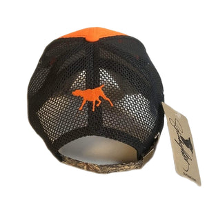 "Hunter's cap ""German Shorthaired Pointer"" orange-black-camo"