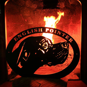 "Metal dog sign ""English Pointer"""