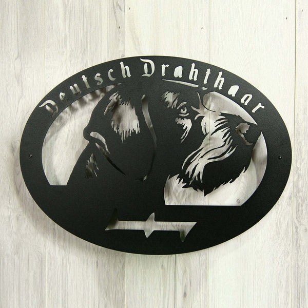 "Metal dog sign ""Deutsch drahthaar"""