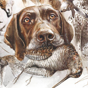"Author's print ""German Shorthaired Pointer. Aport"""