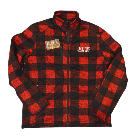 Woodland Full Zip Fleece Buffalo Plaid