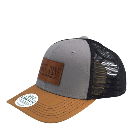 MidPro Snapback Hat Grey w/ Leather Patch