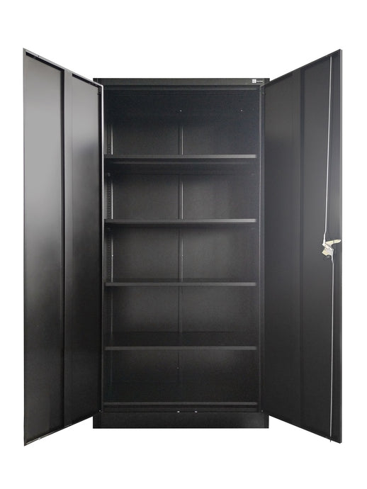 Steel Office Storage/filing Cabinet with 4 Shelves and 3 point Lock(JF-C01)(Black)