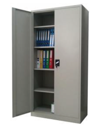 Steel Office Storage/filing Cabinet with 4 Shelves and 3 point Lock(JF-C01)(Grey)