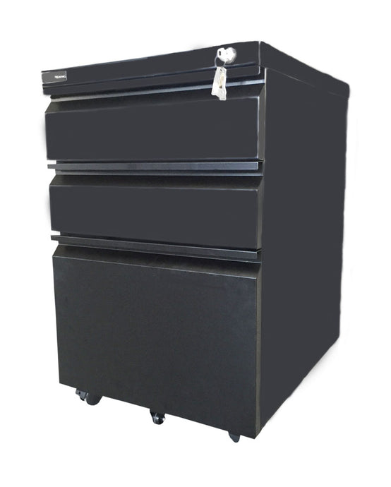 Steel Pedestal 3 drawer Mobile filing Cabinet with Lock(JF-P14)(Black)