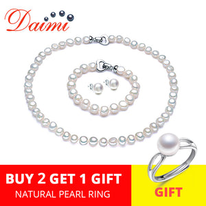 Pearl Jewelry Sets for women/for use with Necklace