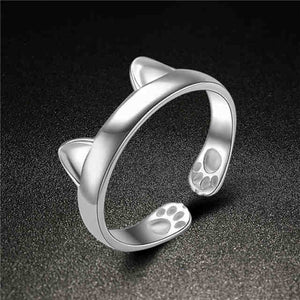Gold and Silver Plated Cat Ear Ring