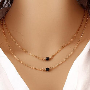 New fashion trendy jewelry copper choker multi layer Necklace  for women