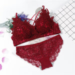 lingerie bra and underwear set with lace