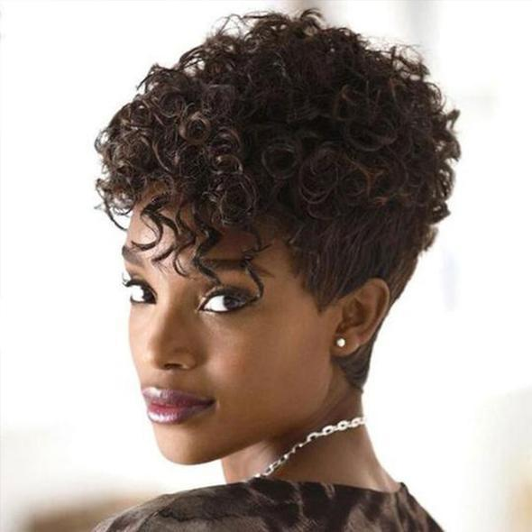 CiCiWig®| Best Design Women Short Curly Wig for African American | Human Hair