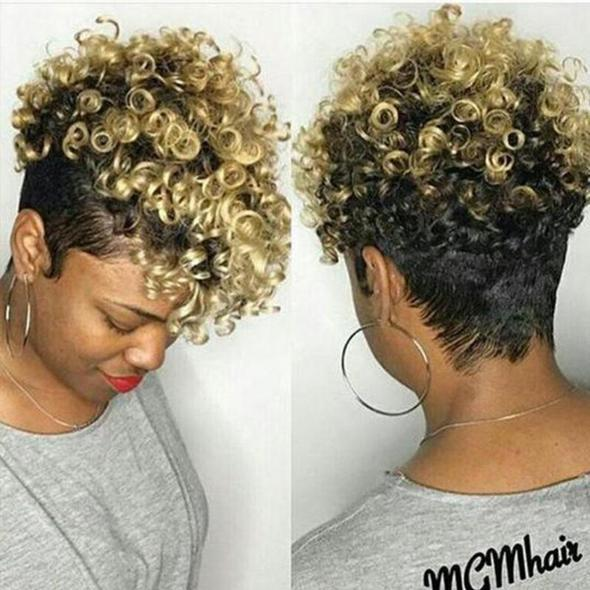 CiCiWig®|  360 Lace Wig Short Spiral Curly Tapered Wig  |  Human Wig