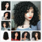 CiCiWig®|  Short Curly Hair No Rubber Lace Wig  |  Black Hair