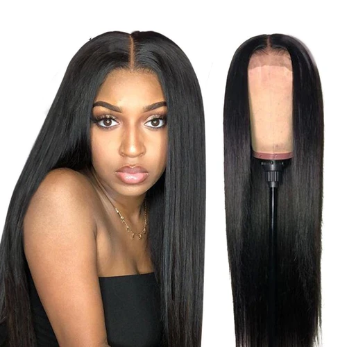 CiCiWig®|  Remy Human Hair Lace Front Wig(Hand-Tied) | Black/Brown Straight Wig