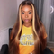 CiCiWig®|  360 Lace Front Sexy long straight hair Gradient gold |  Human Hair