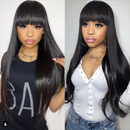 CiCiWig®| 360 Lace Wig Frontal Hand-Tied Trendy Straight Wig | Human Wig  | Black/Brown Wig