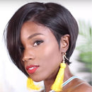 CiCiWig®| Lace Short  Straight Wigs | Human Hair