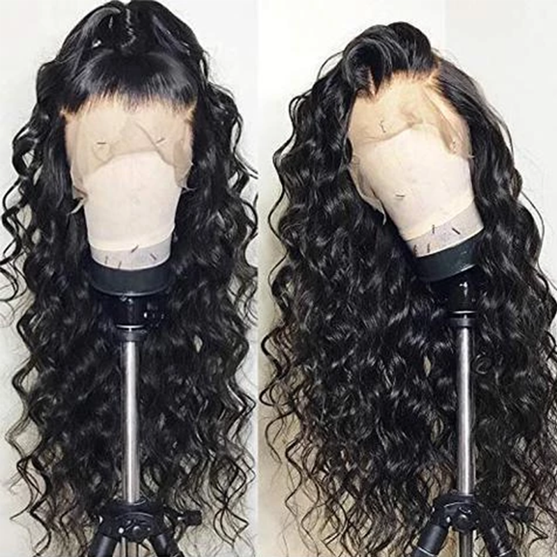 CiCiWig®| Brazilian Water Curly 360 Lace Frontal Wigs Black/Brown Wig  |  Human Hair