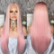 CiCiWig®|   Beauty Pink Human Hair Wig Cold Full Lace Wig | Summer New Style