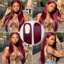 CiCiWig®|  360 Lace Red Straight Human Hair Wig  |  Red Hair