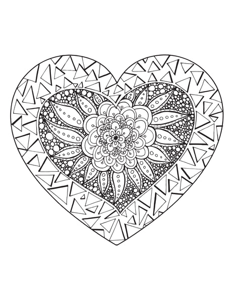 30 Heart Doodles with PLR