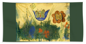 Children Paintings In The Terezin Theresienstadt Ghetto - Bath Towel