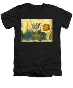 Children Paintings In The Terezin Theresienstadt Ghetto - Men's V-Neck T-Shirt