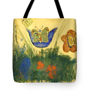 Children Paintings In The Terezin Theresienstadt Ghetto - Tote Bag