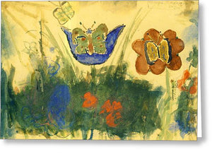 Children Paintings In The Terezin Theresienstadt Ghetto - Greeting Card