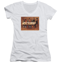 Exclusive Paintings For 1945thestory - Women's V-Neck