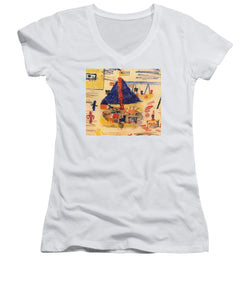 Paintings Of Children From The Holocaust - A New Collection - Women's V-Neck