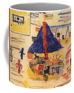 Paintings Of Children From The Holocaust - A New Collection - Mug