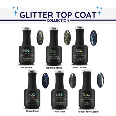 Glitter Top Coat Collection (Set of 6)