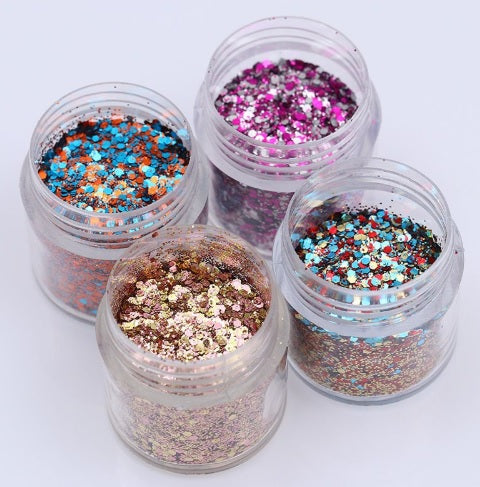 1 Box 10ml Glitter Powder Ultra-thin 1mm Mixed Paillette Nail Sequins