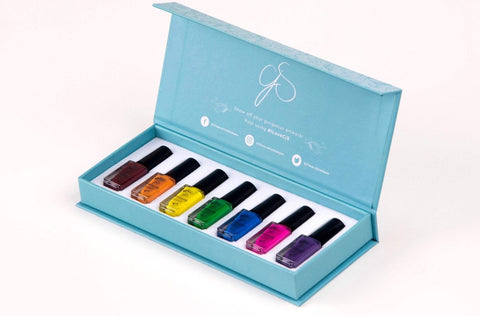 Stamping Polish Kit - Rainbow (7 Colors)