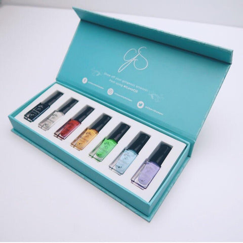 Stamping Polish Kit - Starter (7 Colors)